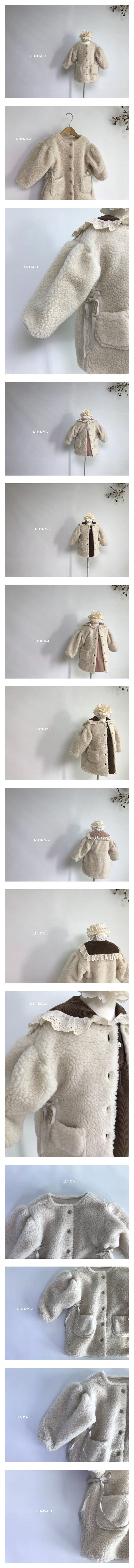 LINDA J - Korean Children Fashion - #Kfashion4kids - Ribbon Dumble Jacket