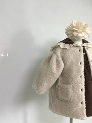 LINDA J - BRAND - Korean Children Fashion - #Kfashion4kids - Ribbon Dumble Jacket