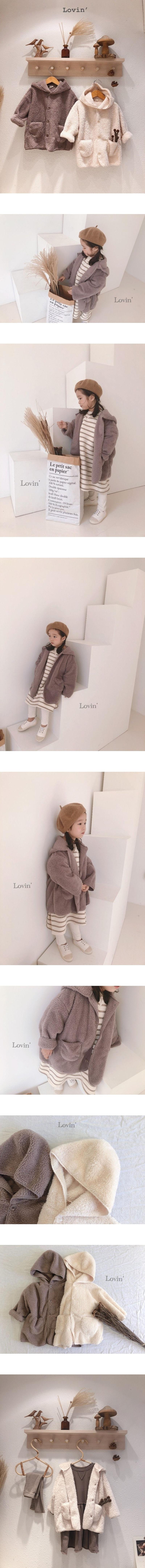 LOVIN - Korean Children Fashion - #Kfashion4kids - Boa Hood Jacket