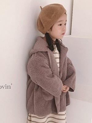 LOVIN - BRAND - Korean Children Fashion - #Kfashion4kids - Boa Hood Jacket