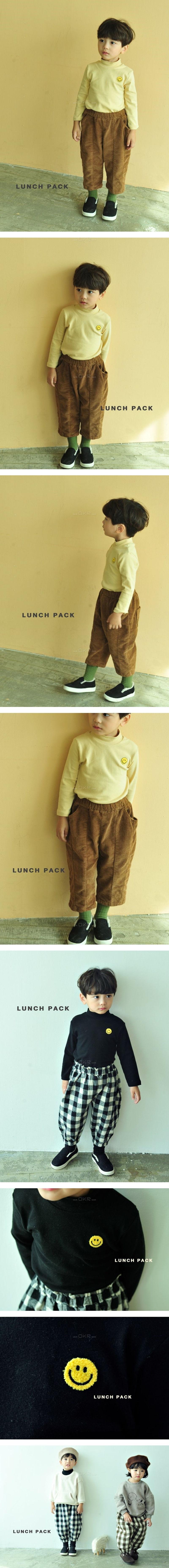 LUNCHPACK - Korean Children Fashion - #Kfashion4kids - Smile Turtleneck Top
