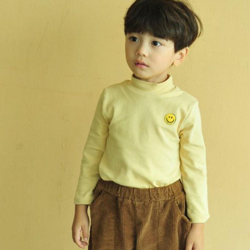 LUNCHPACK - BRAND - Korean Children Fashion - #Kfashion4kids - Smile Turtleneck Top