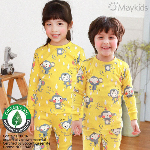 MAYKIDS - BRAND - Korean Children Fashion - #Kfashion4kids - Yellow Monkey Playwear