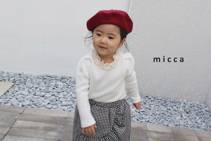 MICCA - BRAND - Korean Children Fashion - #Kfashion4kids - Anjou Lace Tee