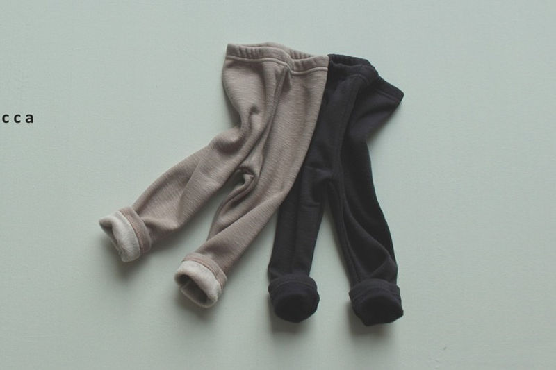 MICCA - BRAND - Korean Children Fashion - #Kfashion4kids - Soft Fleeced Leggings