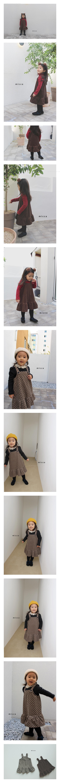 MICCA - Korean Children Fashion - #Kfashion4kids - Corduroy Suspender One-piece