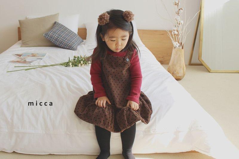 MICCA - BRAND - Korean Children Fashion - #Kfashion4kids - Corduroy Suspender One-piece