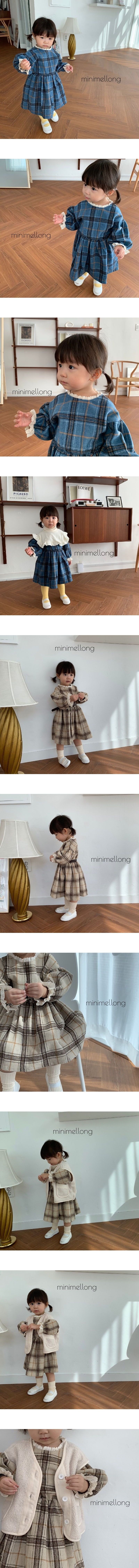 MINIMELLONG - Korean Children Fashion - #Kfashion4kids - Wool Check One-piece