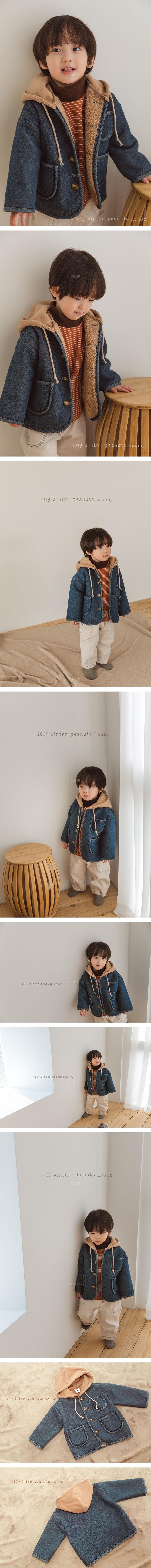 PEANUTS - Korean Children Fashion - #Kfashion4kids - Denim Dumble Jumper