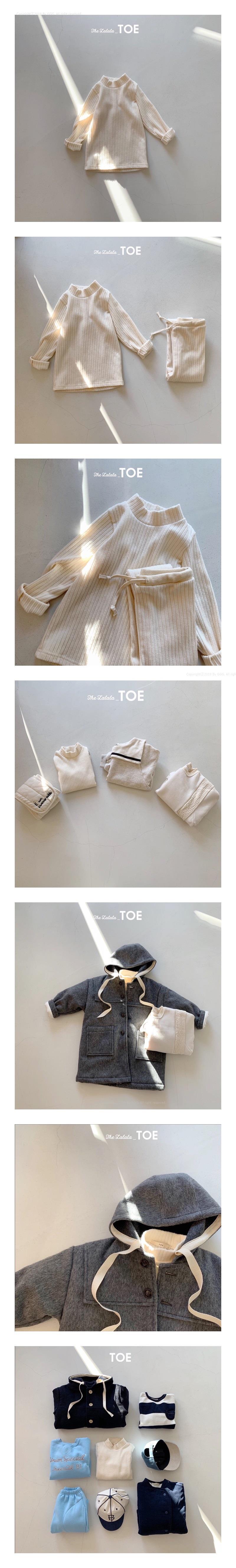 TOE - Korean Children Fashion - #Kfashion4kids - Organic Half Turtleneck Tee