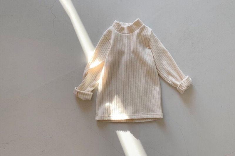 TOE - BRAND - Korean Children Fashion - #Kfashion4kids - Organic Half Turtleneck Tee