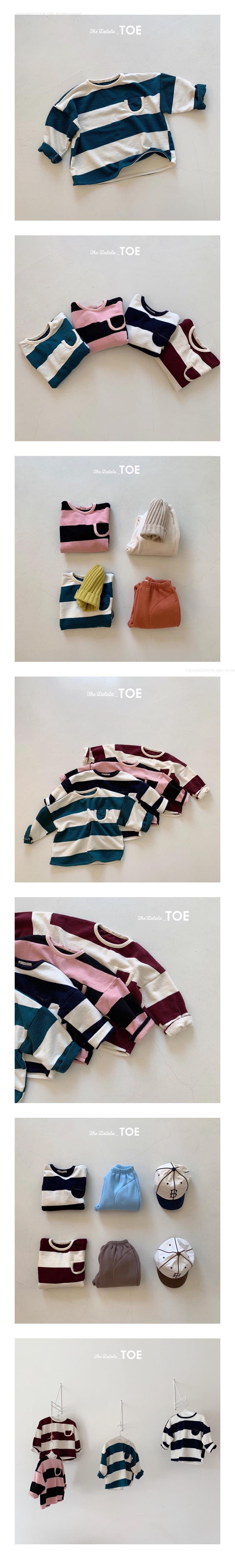 TOE - Korean Children Fashion - #Kfashion4kids - Rich Stripe Tee