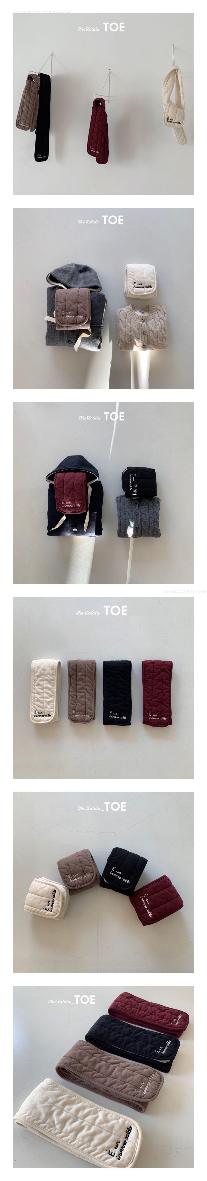 TOE - Korean Children Fashion - #Kfashion4kids - Embroidery Napping Muffler
