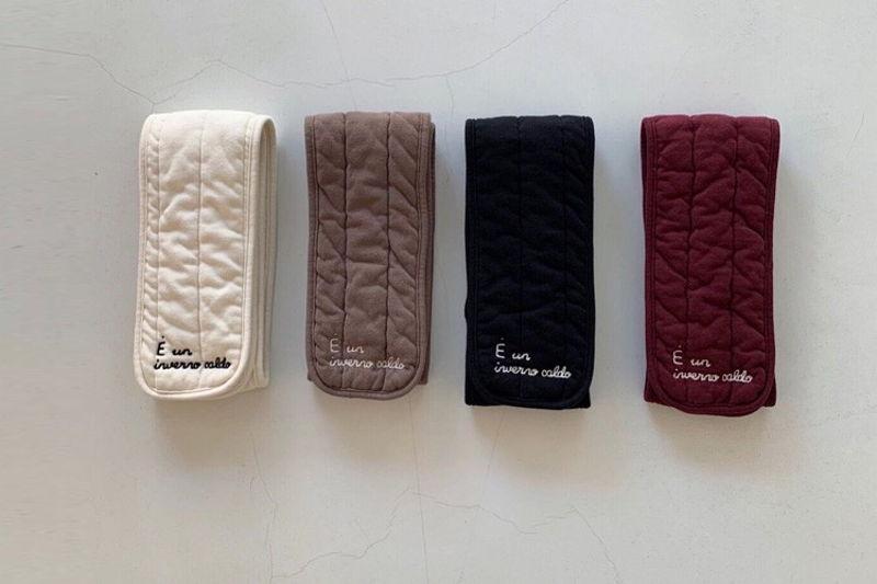 TOE - BRAND - Korean Children Fashion - #Kfashion4kids - Embroidery Napping Muffler
