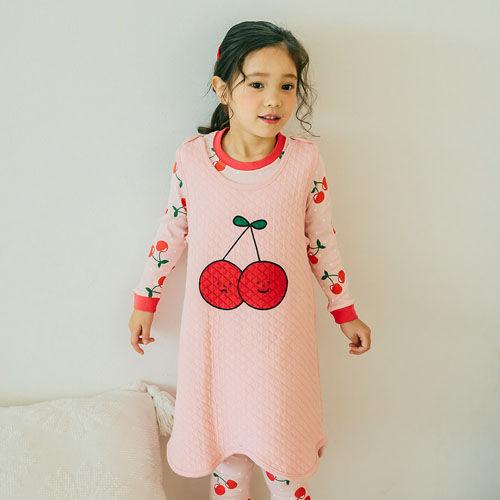 VOVO - BRAND - Korean Children Fashion - #Kfashion4kids - Cherry Cherry Sleep Vest