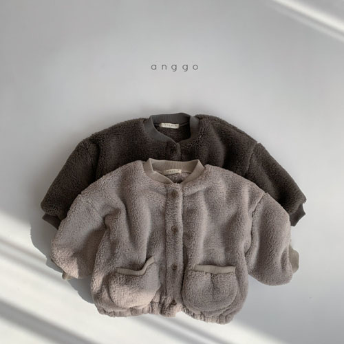 ANGGO - Korean Children Fashion - #Kfashion4kids - Bongbong Fleece Jacket