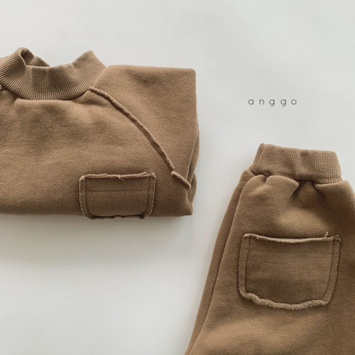 ANGGO - Korean Children Fashion - #Kfashion4kids - Half Turtleneck Top Bottom Set - 8