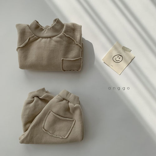 ANGGO - Korean Children Fashion - #Kfashion4kids - Half Turtleneck Top Bottom Set - 9
