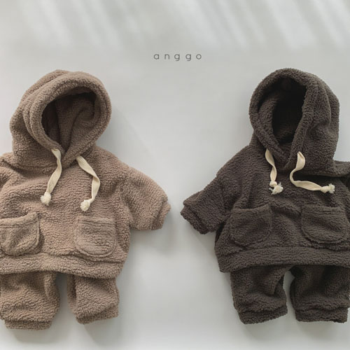 ANGGO - Korean Children Fashion - #Kfashion4kids - Kuma Top Bottom Set