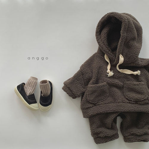 ANGGO - Korean Children Fashion - #Kfashion4kids - Kuma Top Bottom Set - 5
