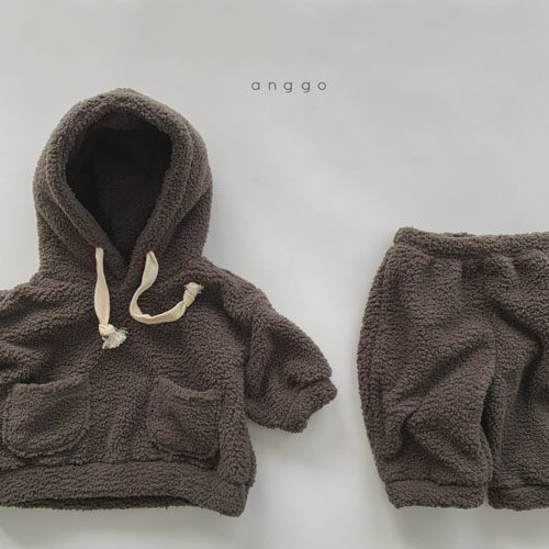 ANGGO - Korean Children Fashion - #Kfashion4kids - Kuma Top Bottom Set - 6