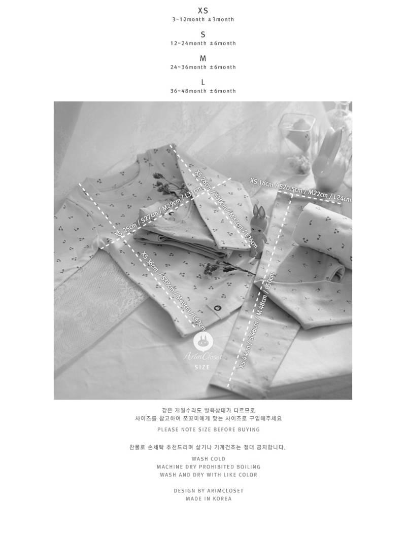ARIM CLOSET - Korean Children Fashion - #Kfashion4kids - Cherry Cotton Homewear - 3