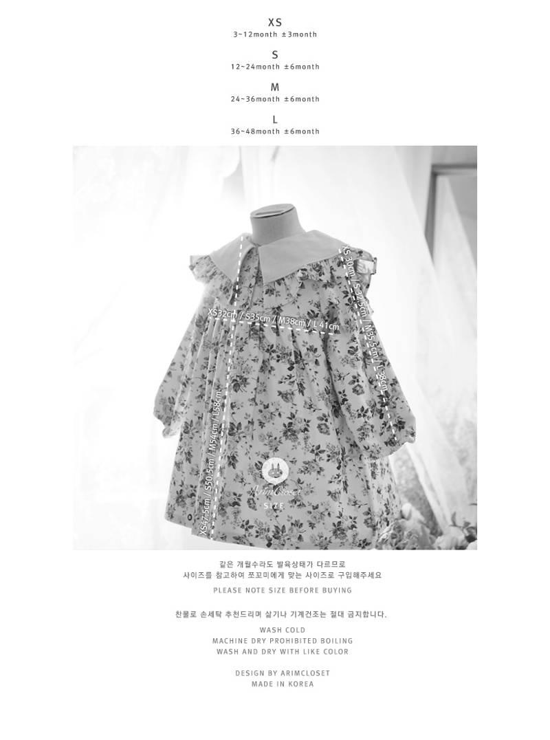 ARIM CLOSET - Korean Children Fashion - #Kfashion4kids - Lovely Big Collar Flower Dress - 3