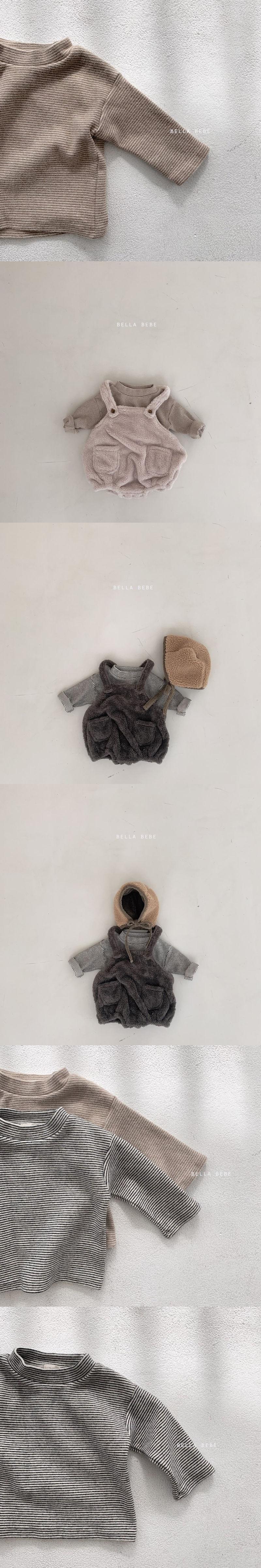 BELLA BAMBINA - Korean Children Fashion - #Kfashion4kids - Bebe Stripe Tee