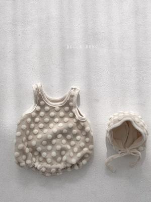 BELLA BAMBINA - BRAND - Korean Children Fashion - #Kfashion4kids - Broomy Bebe Bodysuit with Bonnet