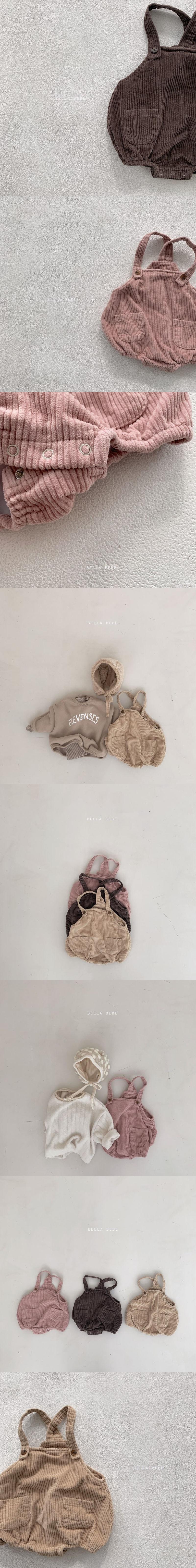 BELLA BAMBINA - Korean Children Fashion - #Kfashion4kids - Corduroy Bebe Bodysuit