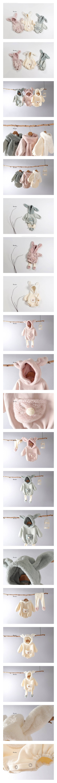 BONITO - Korean Children Fashion - #Kfashion4kids - Bunny Hood Bodysuit