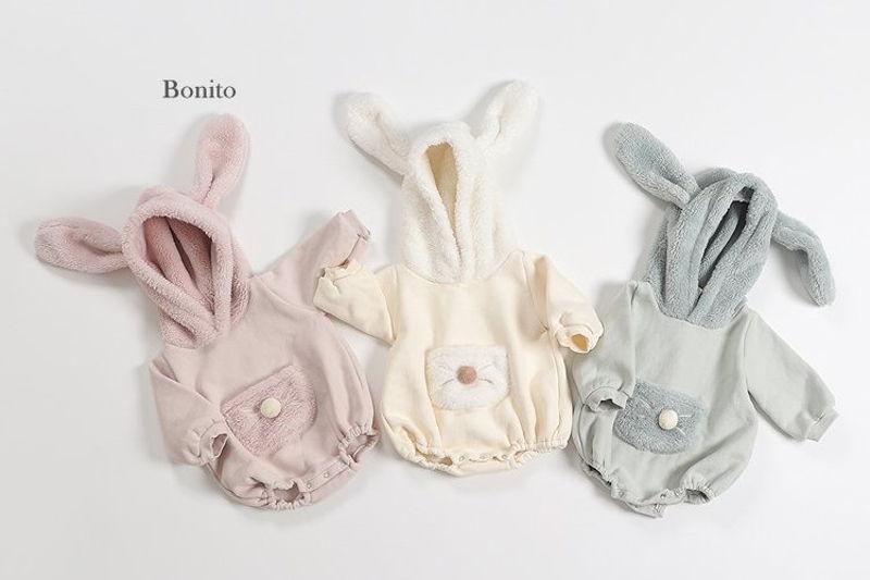 BONITO - BRAND - Korean Children Fashion - #Kfashion4kids - Bunny Hood Bodysuit