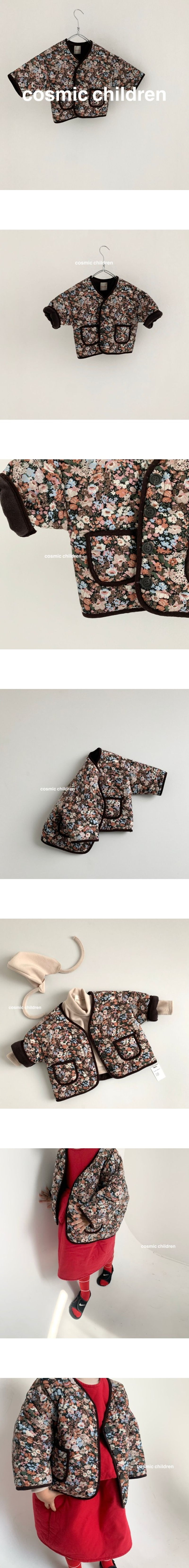 COSMIC CHILDREN - Korean Children Fashion - #Kfashion4kids - Flower Bonding Jumper