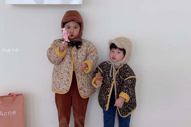 DAILY BEBE - BRAND - Korean Children Fashion - #Kfashion4kids - Reversible Flower Jumper
