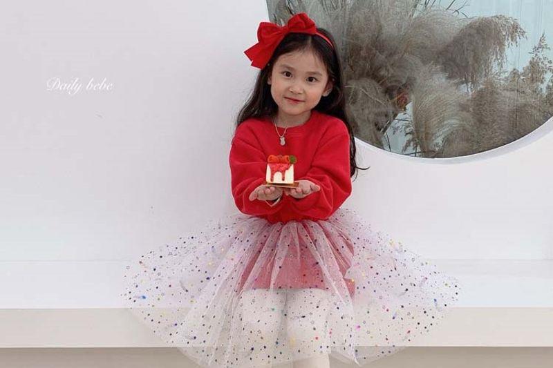 DAILY BEBE - BRAND - Korean Children Fashion - #Kfashion4kids - Star Cha One-piece