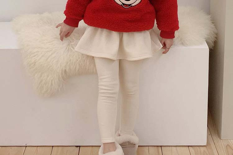 DAILY BEBE - BRAND - Korean Children Fashion - #Kfashion4kids - Mink Skirt Leggings