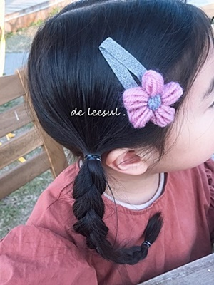 DE LEESUL - BRAND - Korean Children Fashion - #Kfashion4kids - Big Margaret Hairpin [set of 3]
