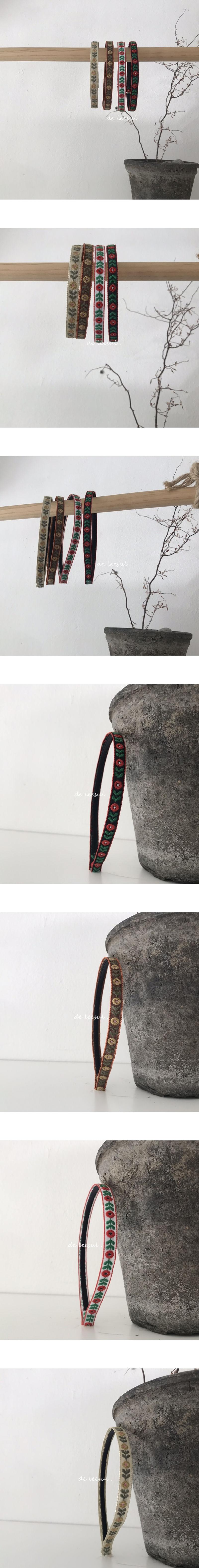 DE LEESUL - Korean Children Fashion - #Kfashion4kids - Mini Flower Embroidery Hairband