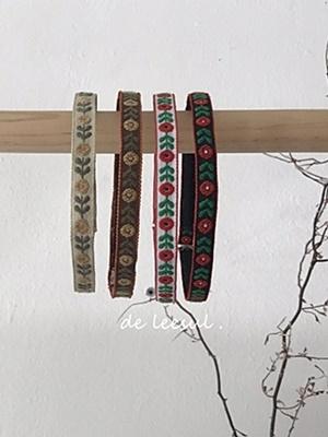 DE LEESUL - BRAND - Korean Children Fashion - #Kfashion4kids - Mini Flower Embroidery Hairband