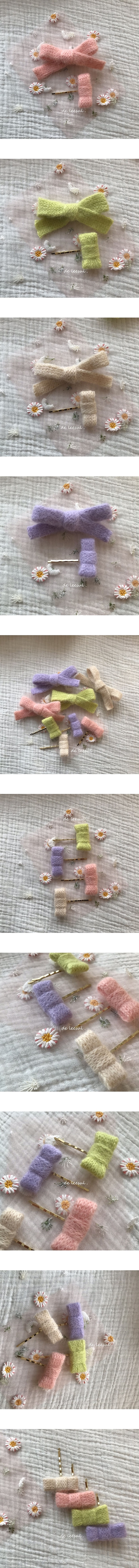 DE LEESUL - Korean Children Fashion - #Kfashion4kids - Pogni Knit Hairpin [set of 4]