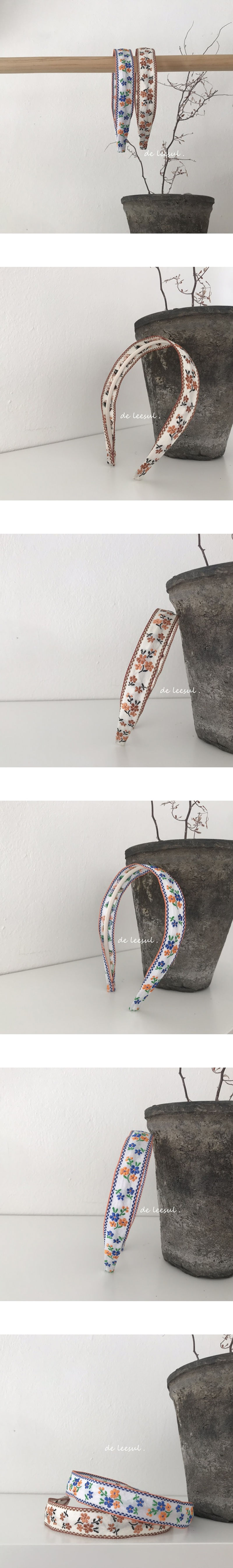 DE LEESUL - Korean Children Fashion - #Kfashion4kids - Embroidery Hairband