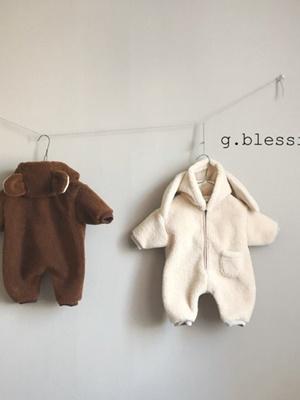 G BLESSING - BRAND - Korean Children Fashion - #Kfashion4kids - Fleece Bodysuit