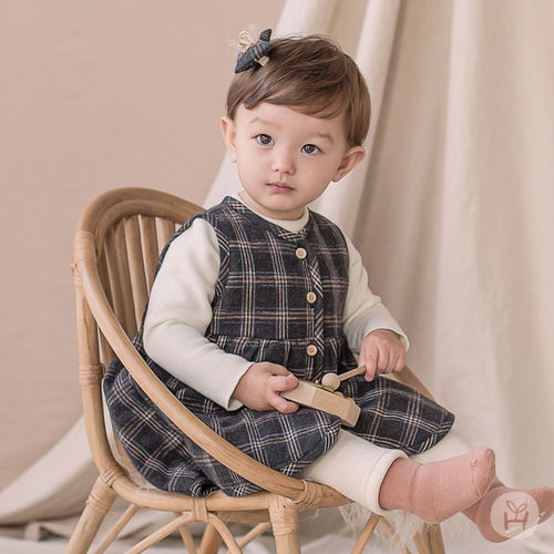 HAPPY PRINCE - BRAND - Korean Children Fashion - #Kfashion4kids - Ivy Quilt Vest One-piece