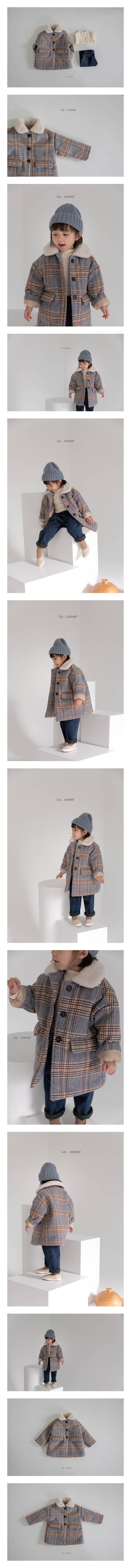 LA CAMEL - Korean Children Fashion - #Kfashion4kids - Pay Check Coat