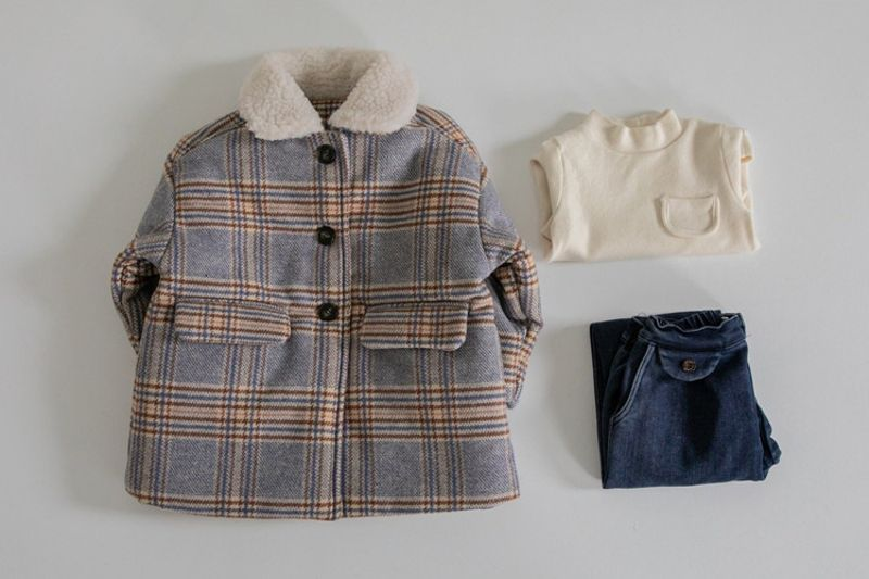 LA CAMEL - BRAND - Korean Children Fashion - #Kfashion4kids - Pay Check Coat