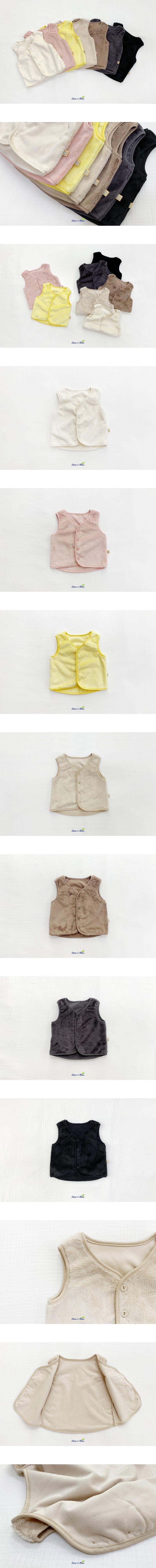 LIME & BLUE - Korean Children Fashion - #Kfashion4kids - Mink Sleeping Vest