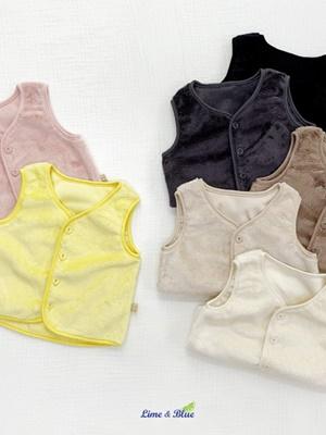 LIME & BLUE - BRAND - Korean Children Fashion - #Kfashion4kids - Mink Sleeping Vest