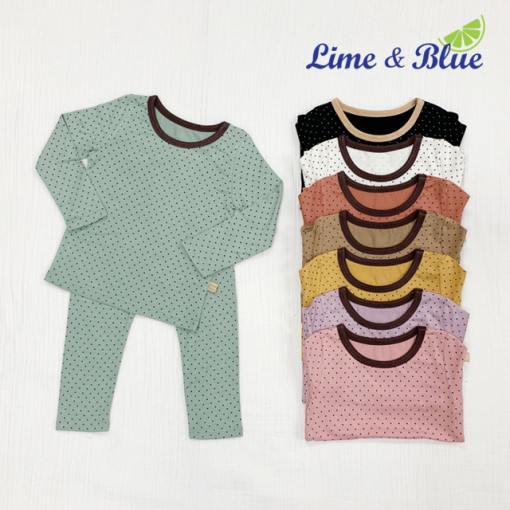 LIME & BLUE - BRAND - Korean Children Fashion - #Kfashion4kids - Dot Heat Easywear