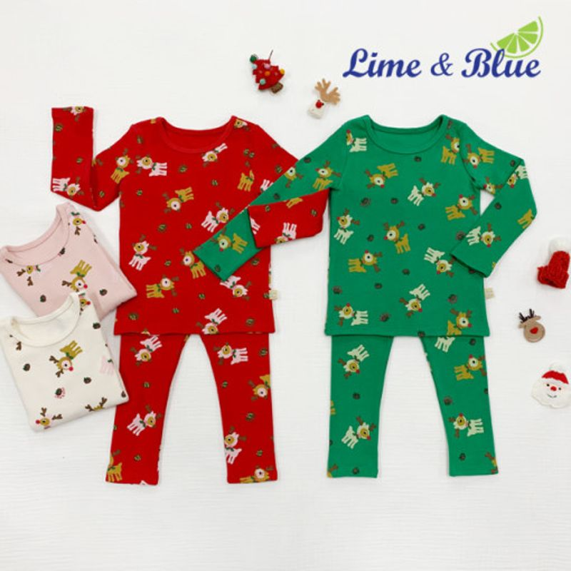 LIME & BLUE - BRAND - Korean Children Fashion - #Kfashion4kids - Rudolph Easywear