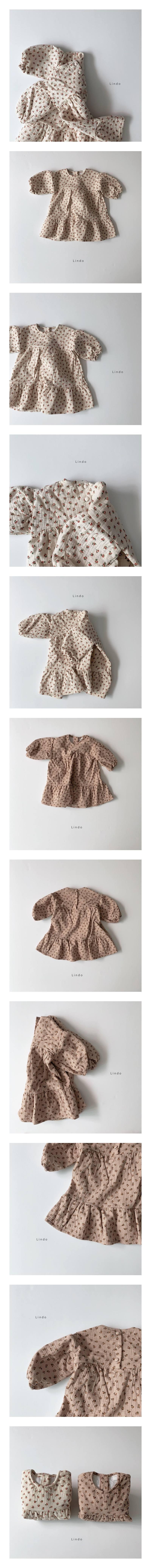 LINDO - Korean Children Fashion - #Kfashion4kids - Floral One-piece